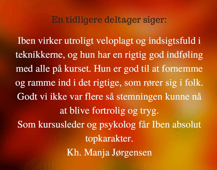 Kursus hos Psykolog Iben Jørgensen